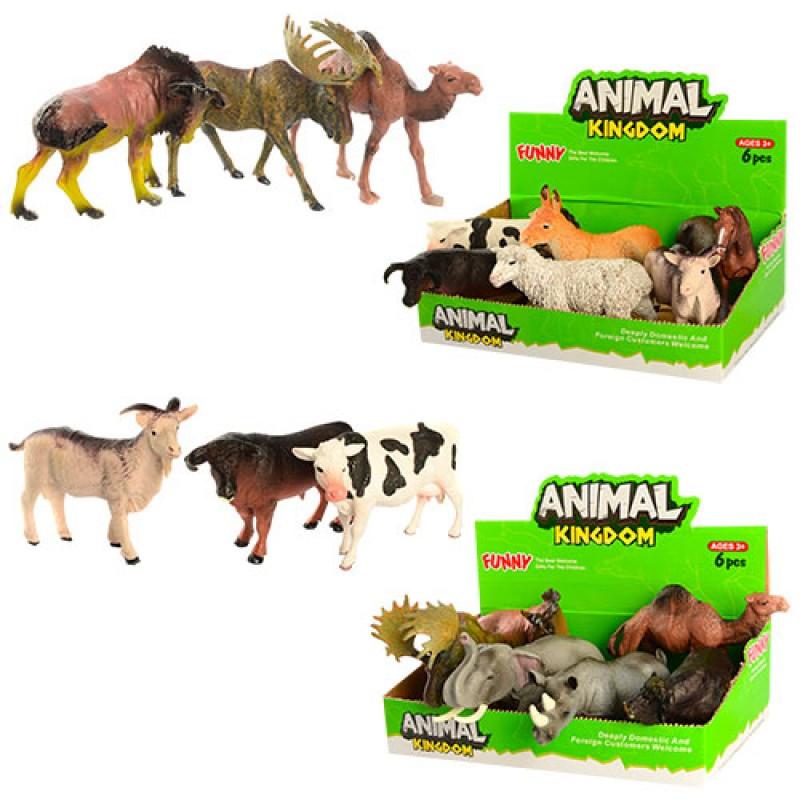 Тварини 16098BC, 12 видів (дикі, домашні), без упаковки, 1 шт