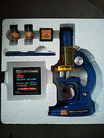 Микроскоп пластиковый в коробке. Увеличение 100X-200X-450Х