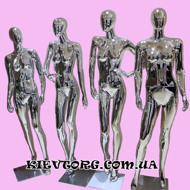 Манекены женские для одежды серебрянные гипсовые витринные (+ Видео)