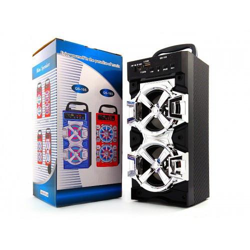 Беспроводная портативная Bluetooth + FM колонка JHW-QS105