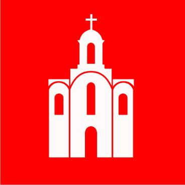 Флаг Белой Церкви 0,9х0,9 м. шелк