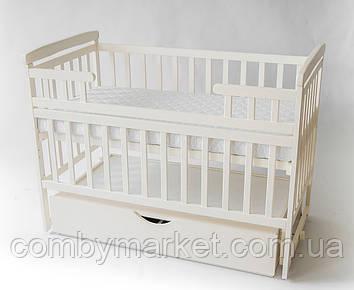Детская кроватка трансформер DeSon с ящиком ваниль