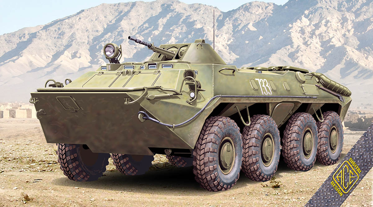 БТР-70 (раннего выпуска). Сборная модель в масштабе 1/72. ACE 72164