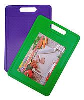 """Доска разделочная пластиковая 23×33 см для кухни """"Юнипласт"""", фото 1"""