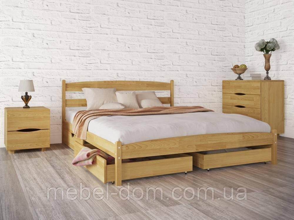 """Кровать двуспальная Олимп """"Лика без изножья с ящиками"""" (160*200)"""