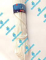 Шнур полипропиленовый вязаный. Диаметр 6 мм, длинна 100 м. Белый, фото 1