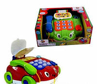 Развивающая игрушка каталка - телефон 7068 JOY TOY , (муз, свет)