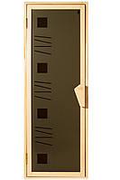 Стеклянная дверь для сауны ALFA TESLI 678х1880 мм