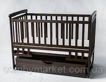 Кроватка-трансформер DeSon с ящиком орех