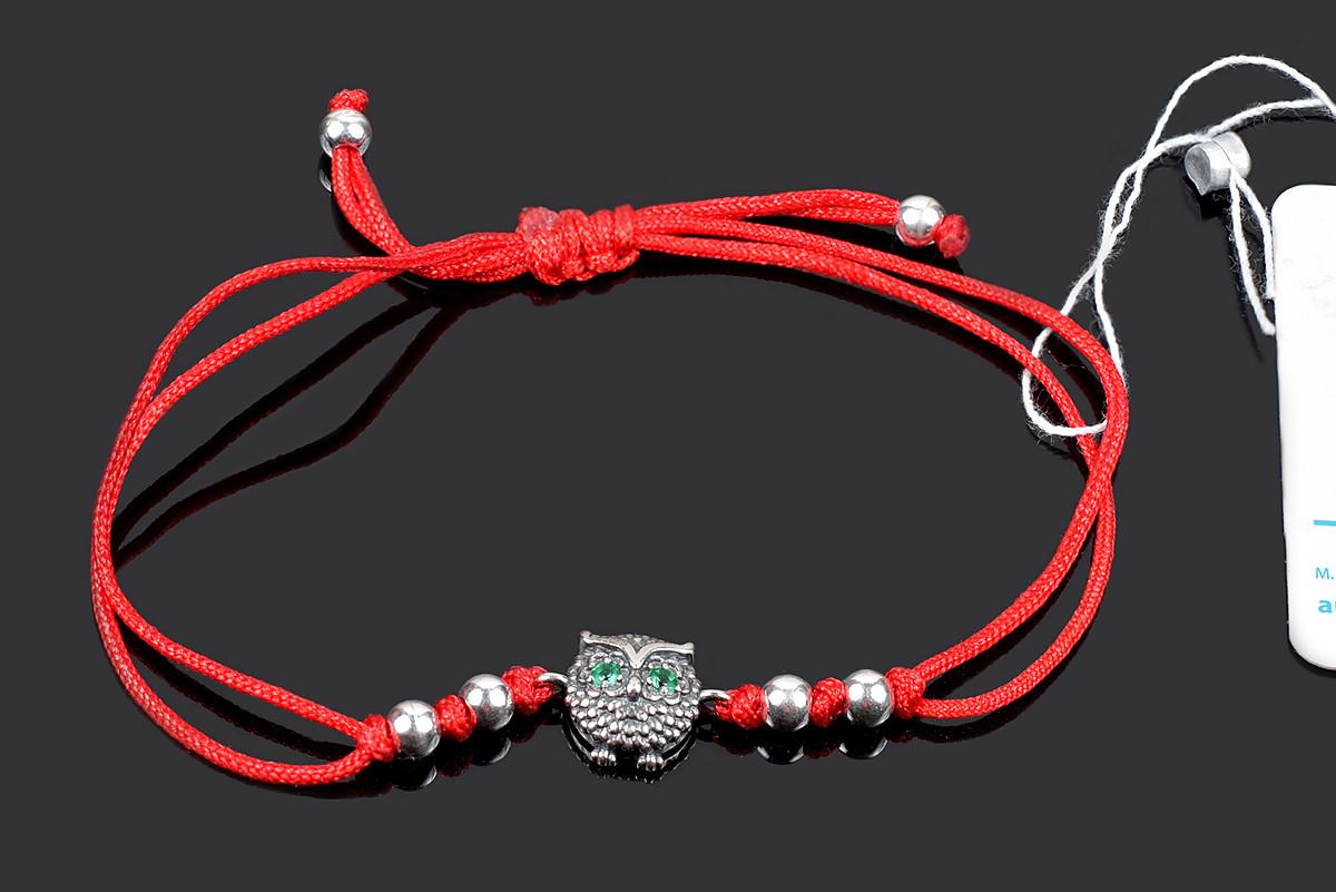 Красная браслет на запястье Сова