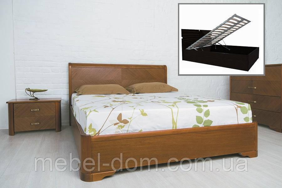 """Кровать двуспальная Олимп """"Милена с интарсией и с подъемным механизмом"""" (200*200)"""