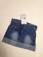 Джинсовая юбка для девочек от 3 до 6 лет.