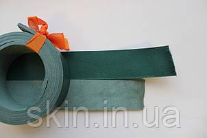 Полосы из кожи растительного дубления с покрытием для ремней зеленого цвета, арт. СКУ 9002.1717, фото 2