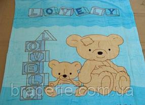 Микрофибровая простынь,покрывало ELWAY 404 детский размер (110*140)