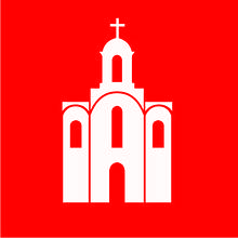 Флаг Белой Церкви 0,9х0,9 м. атлас