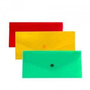 Папка-конверт на кнопке В6 Economix N31306, цветная прозрачная