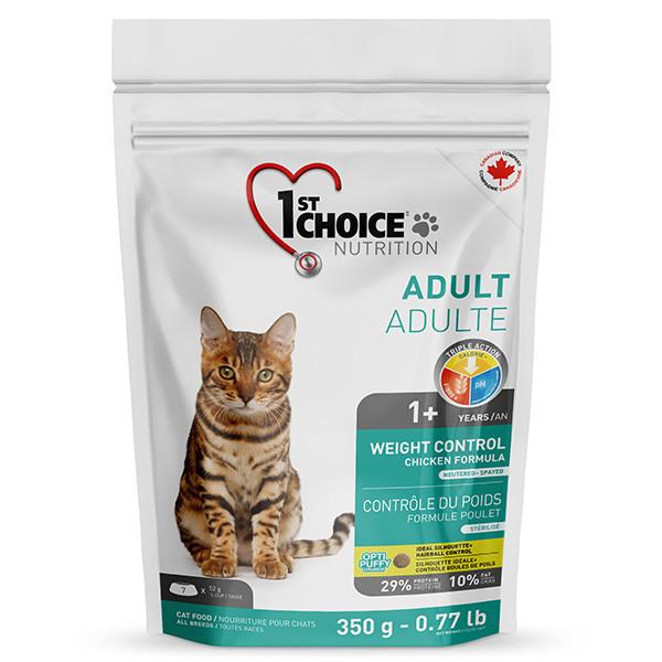 1st Choice WEIGHT CONTROL 350 г - корм для кошек с избыточным весом и стерилизованных
