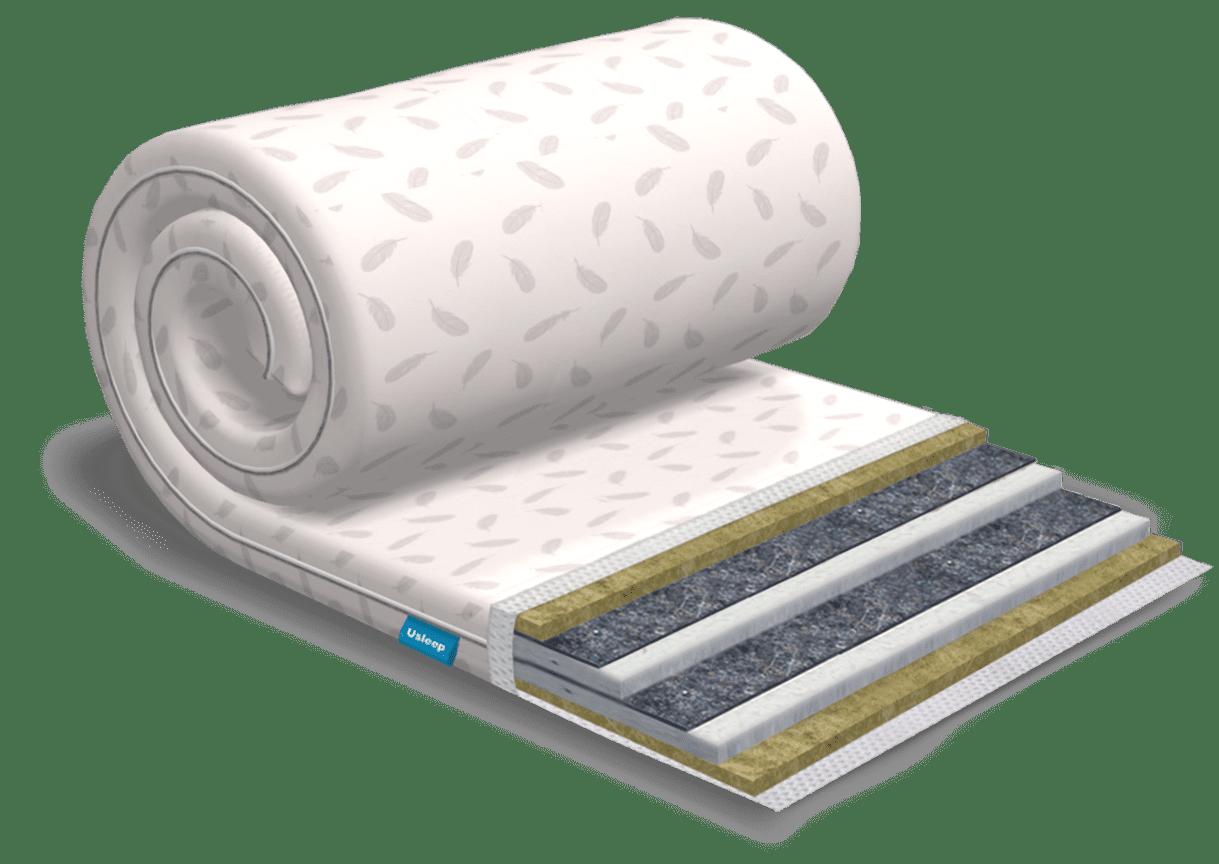 Топпер-футон USLEEP SleepRoll Extra Linen (без поролона) 70х190