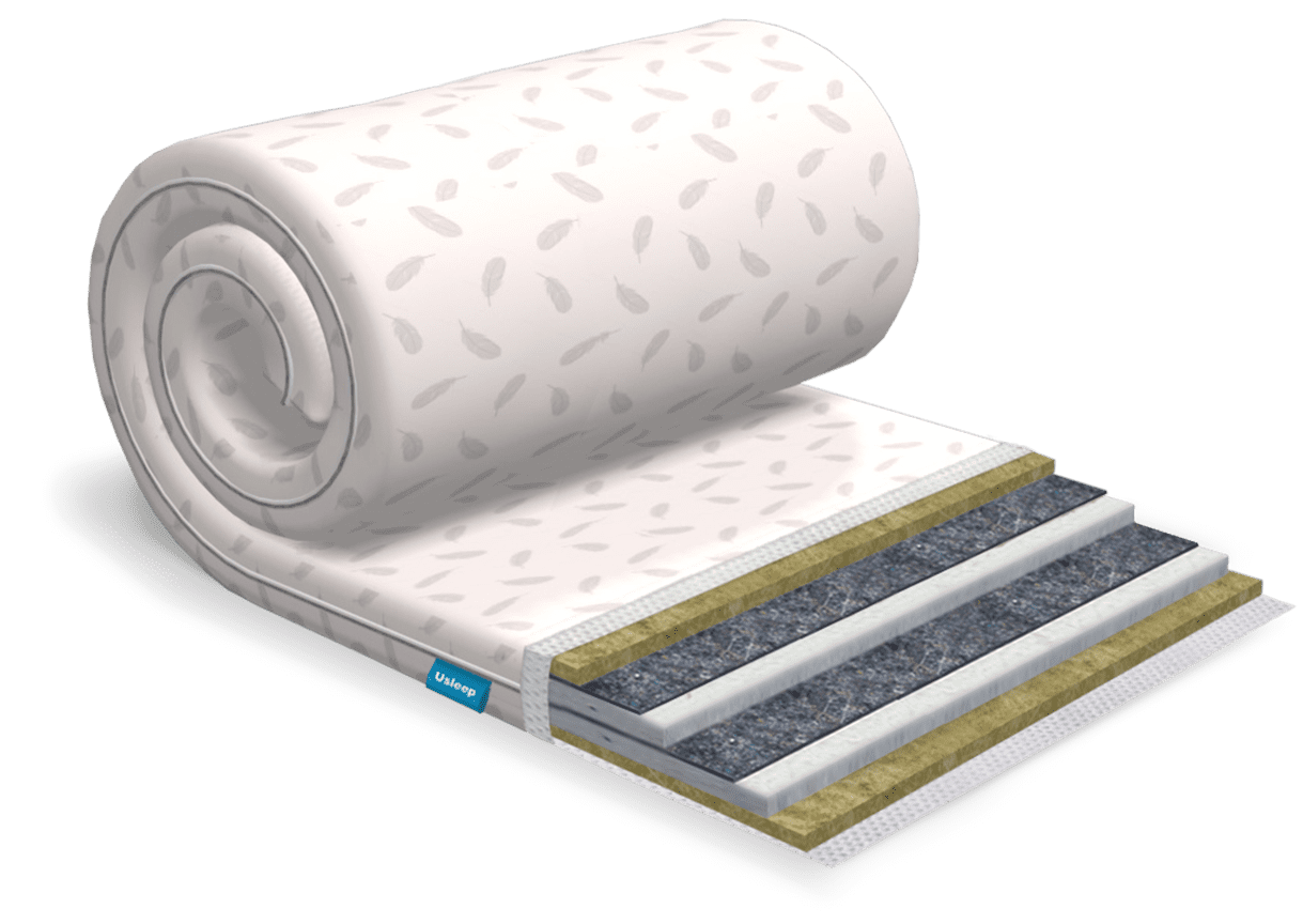 Топпер-футон USLEEP SleepRoll Extra Linen (без поролона) 180х190