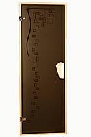 Стеклянная дверь для сауны и бани GRAPHIC TESLI 678х1880 мм