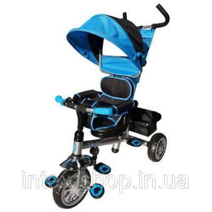 Триколісний велосипед Bambi B32-TM-4 Блакитний, фото 2