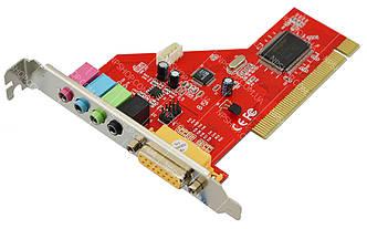 Звукова карта PCI внутрішня 4CH 5.1 (24101)