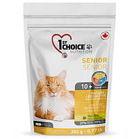 1st Choice SENIOR 350 г - корм для стареющих и малоактивных кошек (курица)