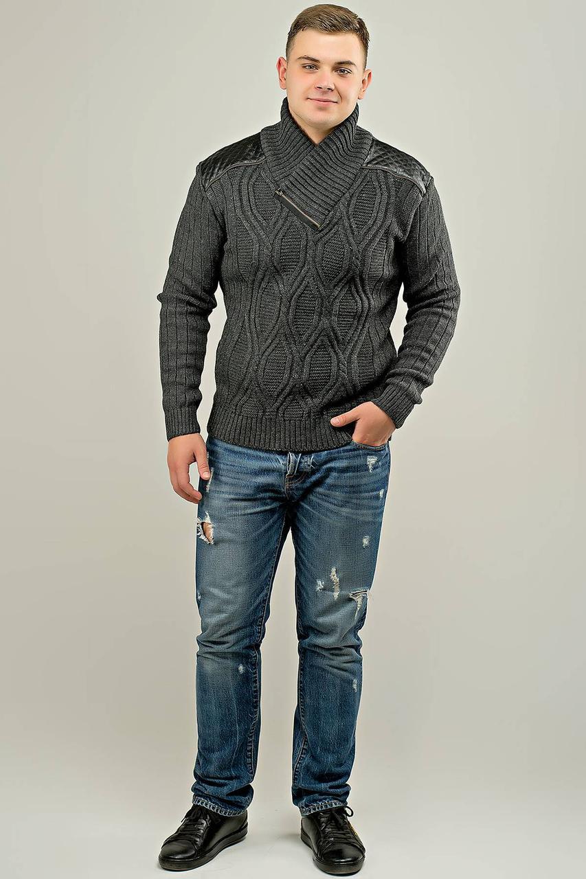 95c487f29df Мужской свитер Леонид (серый)  продажа