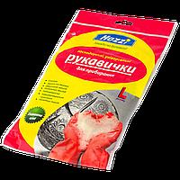 Перчатка для уборки латексная Размер: L
