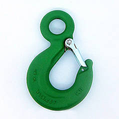 Кованый стальной крюк для строп 1.6 т GM-HL (крановый, чалочный)