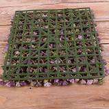 Трава латексная   зеленая Премиум квадрат  25*25 см Зелень искусственная, фото 2