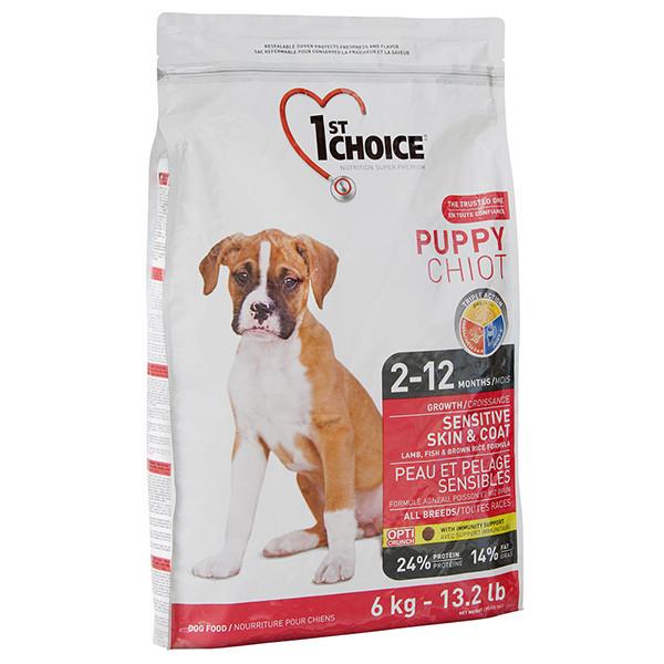 1st Choice PUPPY SENSITIVE SKIN & COAT 14 кг - корм для щенков с чувствительной кожей и шерстью