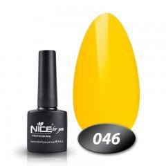 Гель-лак Nice for you № 46 (желтый), 8,5 мл