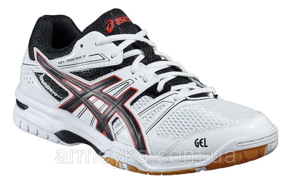Волейбольные тренировочные кроссовки Asics GEL-Rocket 7 (White/Black)., фото 1