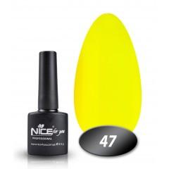 Гель-лак Nice for you № 47 (лимонный), 8,5 мл