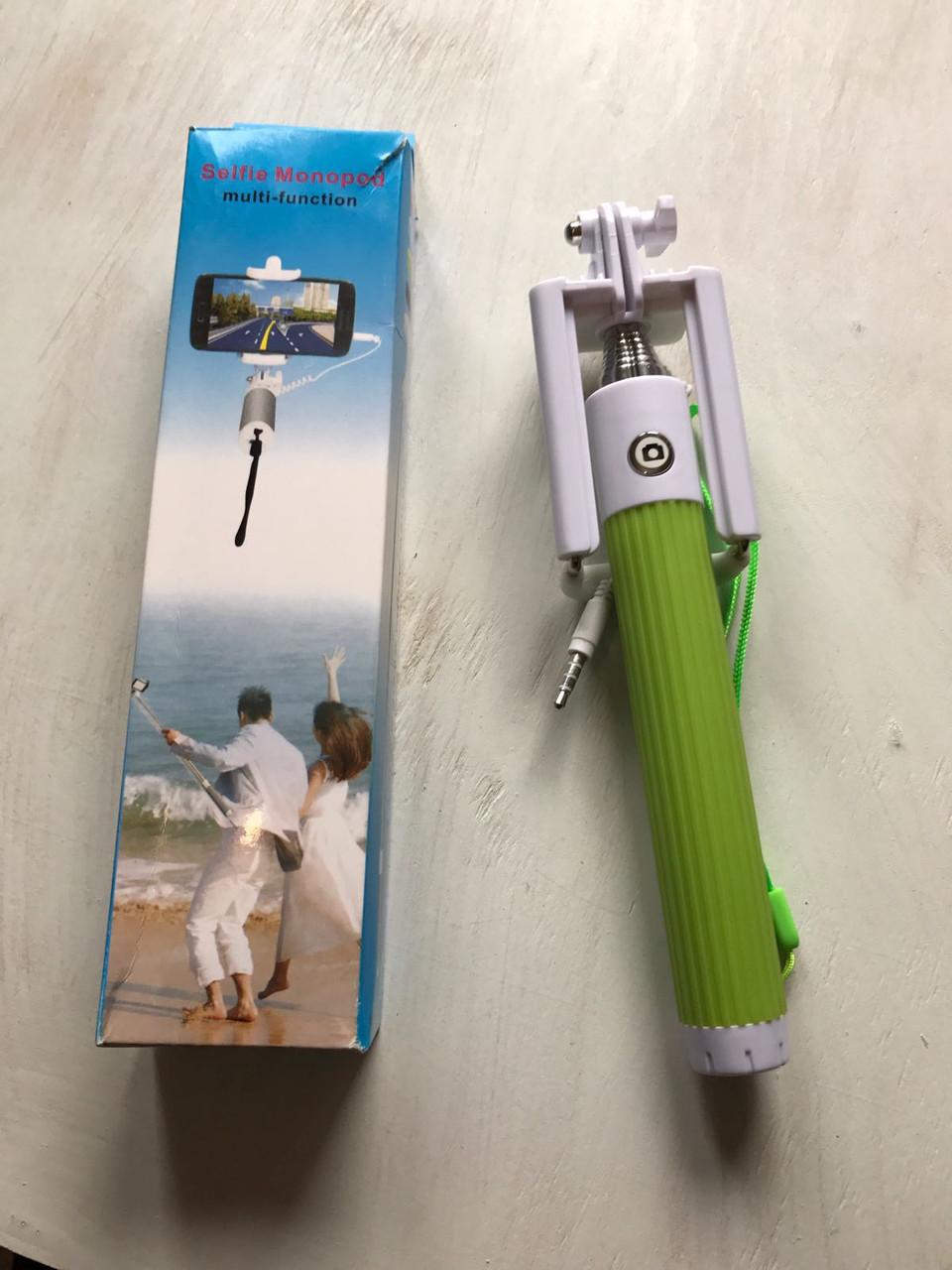 Монопод палка для селфи RDX209 зеленый