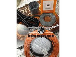 """Нагрівальний кабель в стяжку. Комплект з цифровим терморегулятором """"FENIX"""" (3.4 м. кв.) Спец ціна"""