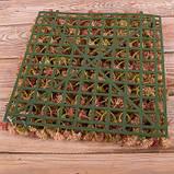 Трава латексная коричневая Премиум квадрат  25*25 см Зелень искусственная, фото 2