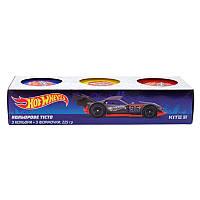 Цветное тесто для лепки Kite Hot Wheels HW19-151, 3*75г