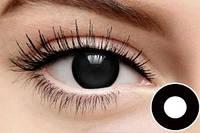 Цветные линзы для глаз, черные + контейнер для линз в подарок