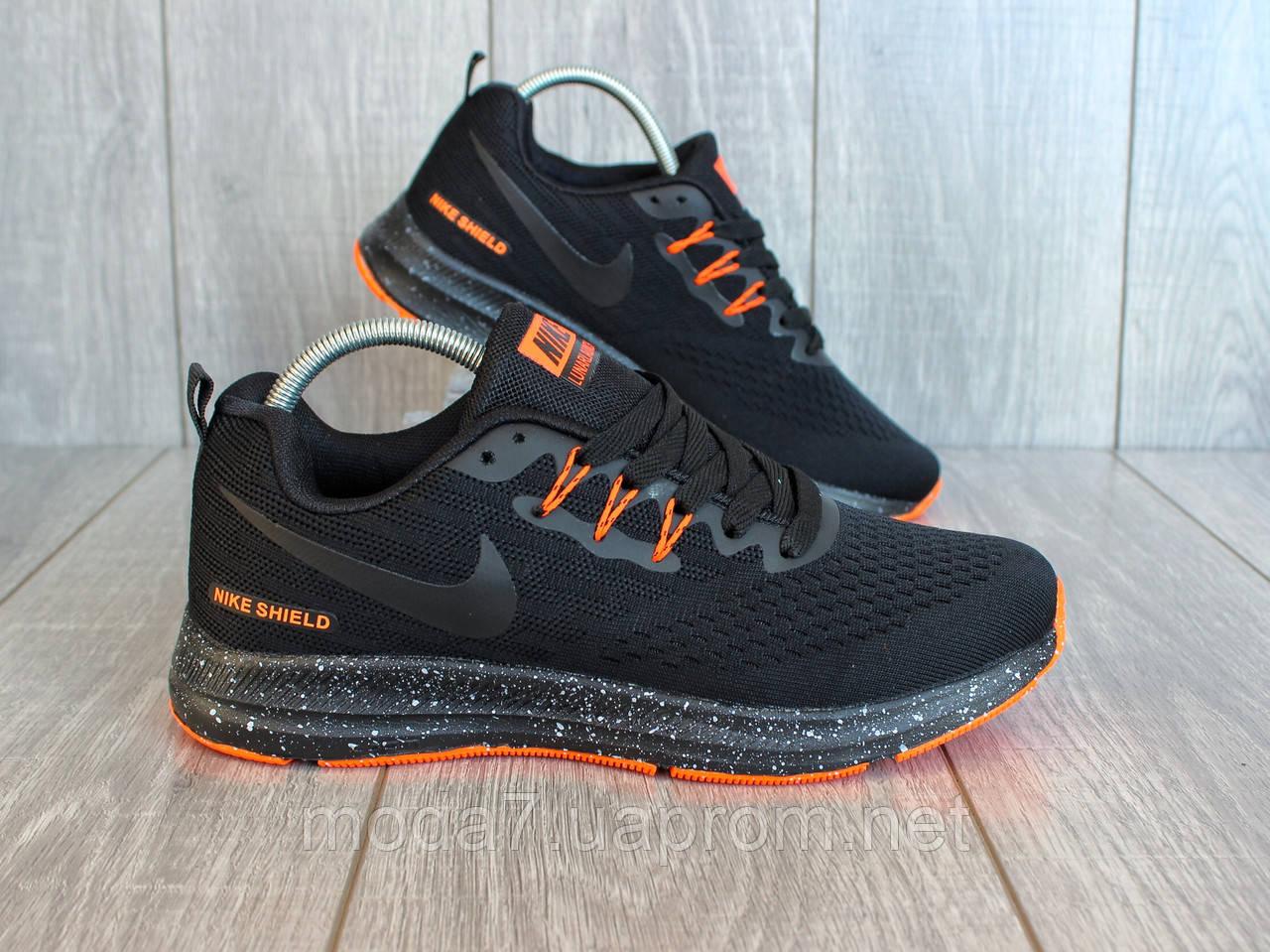 Кроссовки мужские черные Nike Zoom сетка реплика 42р
