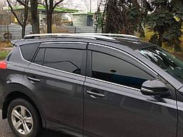 Дефлекторы окон kindle хром молдинг Toyota Rav 4 2013-2017