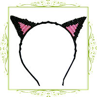 Ушки кошки из бусин