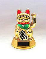 Счастливый кот Манэки Нэко - привлекает удачу, богатство, счастье, любовь и процветание.на солнечной батарейке