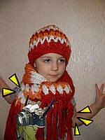 Комплект для девочки: шапка+шарфик в этническом стиле