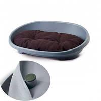 Лежак Savic Snooze (Снуз) для собак, пластик, 80х56,5х25,5 см Сине-серый