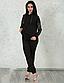 Женский спортивный костюм трикотаж + эко-кожа (серый-серебро) 8747, фото 7