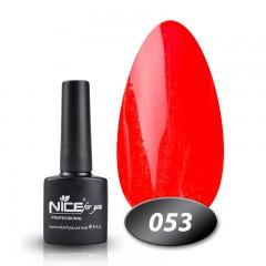 Гель-лак Nice for you № 53 (ярко-коралловый с микроблеском), 8,5 мл
