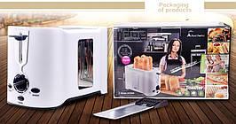 Тостер DSP KC 2038 750 Вт кухонная техника белый корпус два отсека для тостов