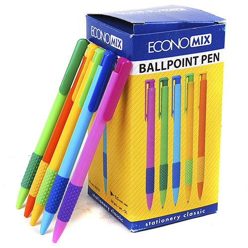 Ручка шариковая автоматическая PHAETON ассорти пишет синим